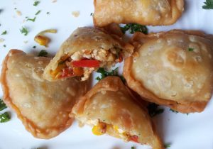 Sweetcorn and Red Bell Pepper Fried Pastries