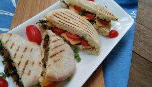 Stir fried Vegetables in Homemade Pita Bread