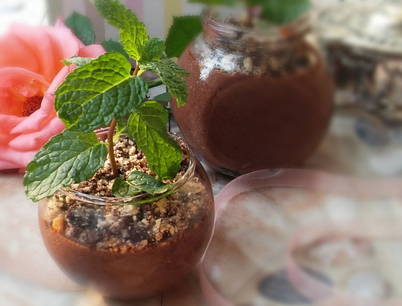 Chocolate Mousse Mint Pots