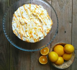 Orange Cake with zesty Cream Frosting