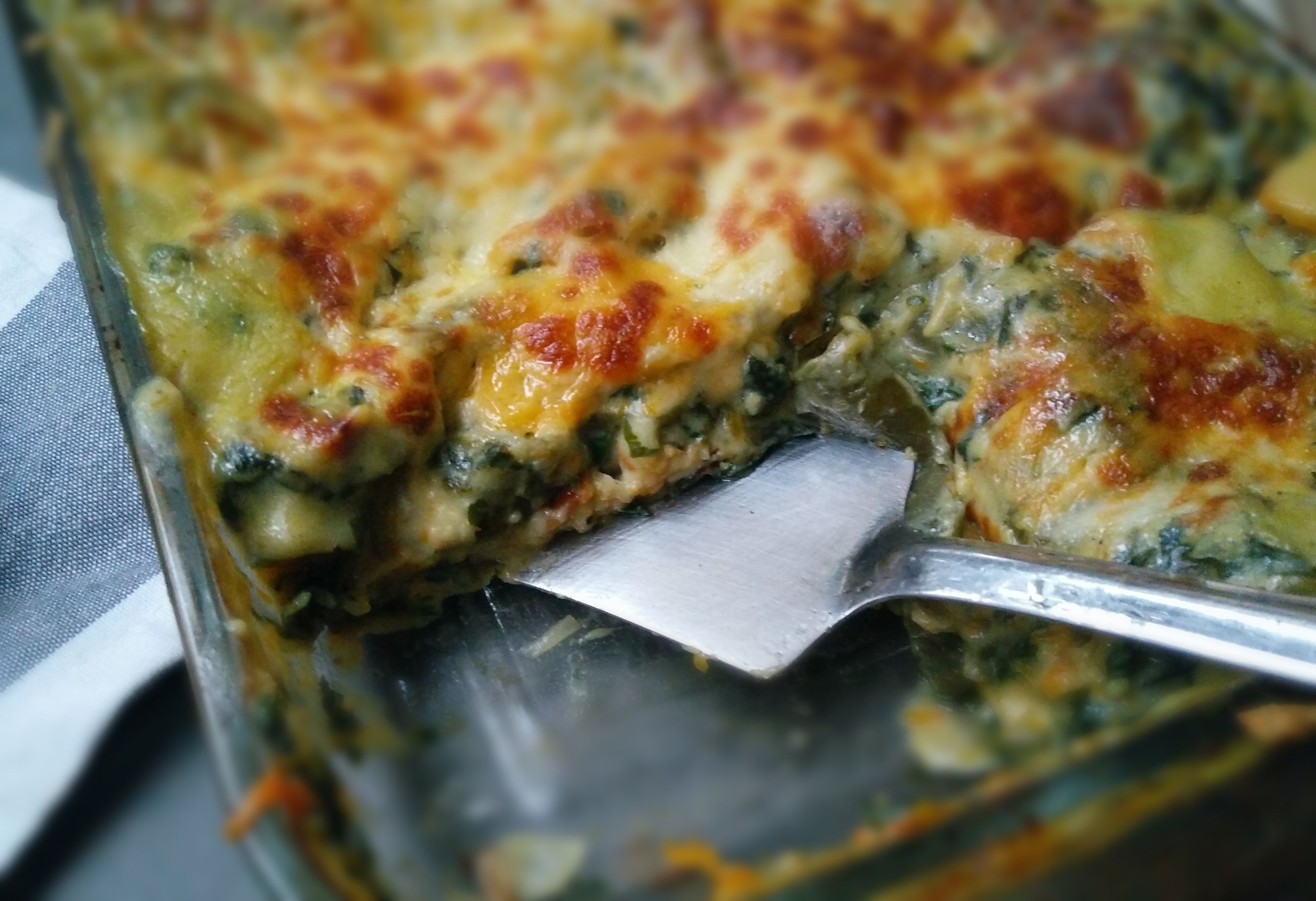 Creamy Butternut and Spinach Lasagna