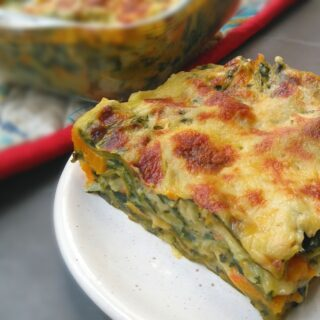Creamy Pumpkin and Swiss Chard Lasagna