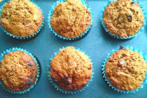 healthy egg free wholewheat muffins