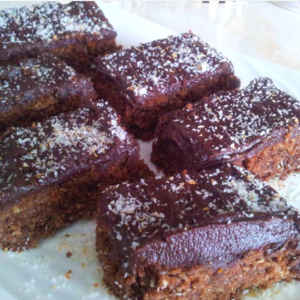 Chocolate Coconut Slices