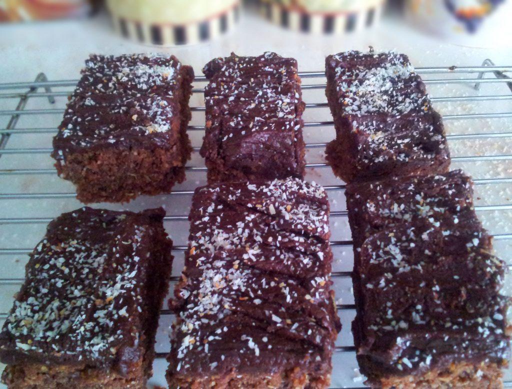 Chocolate Coconut Slices