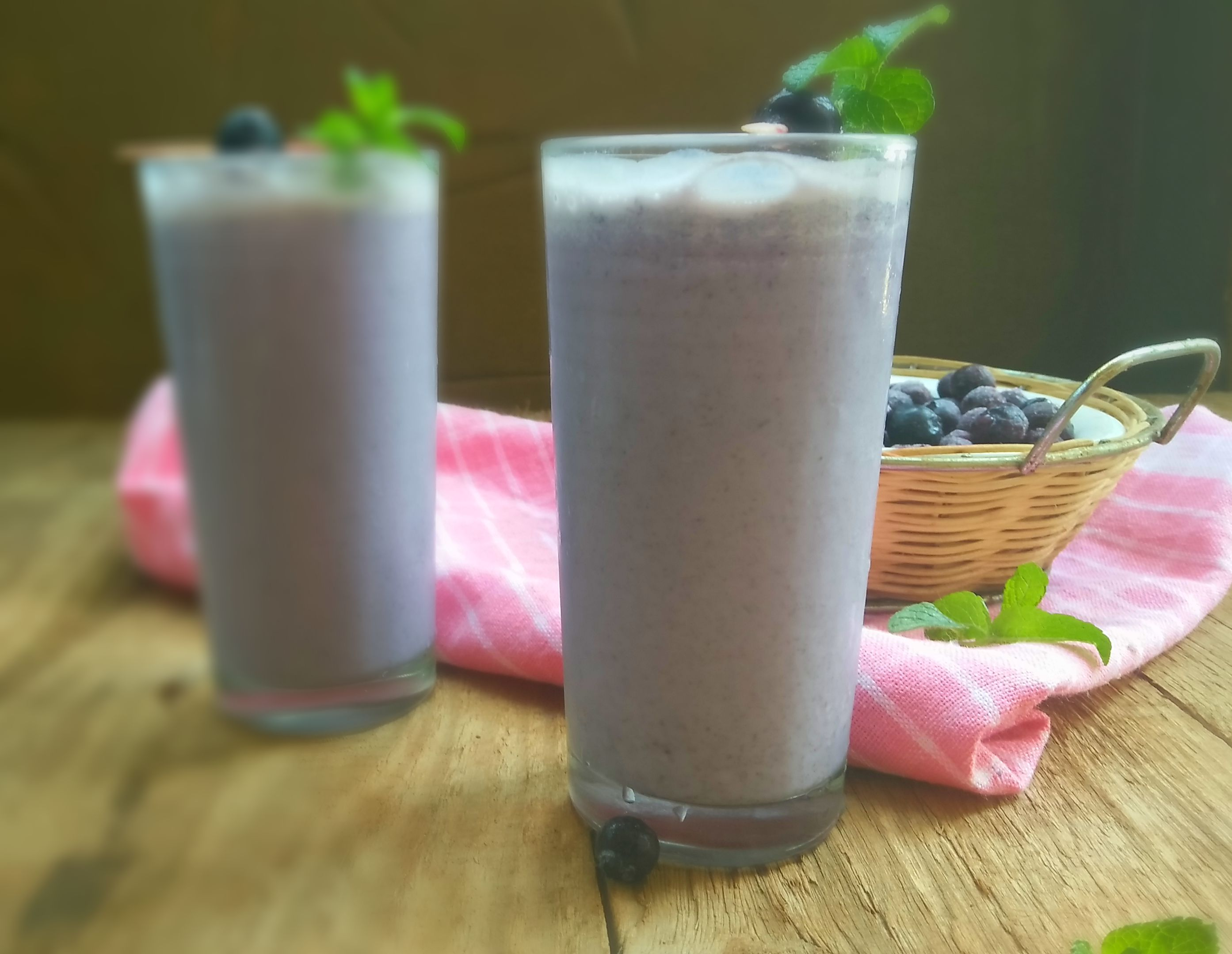 Blueberry Bran Smoothie
