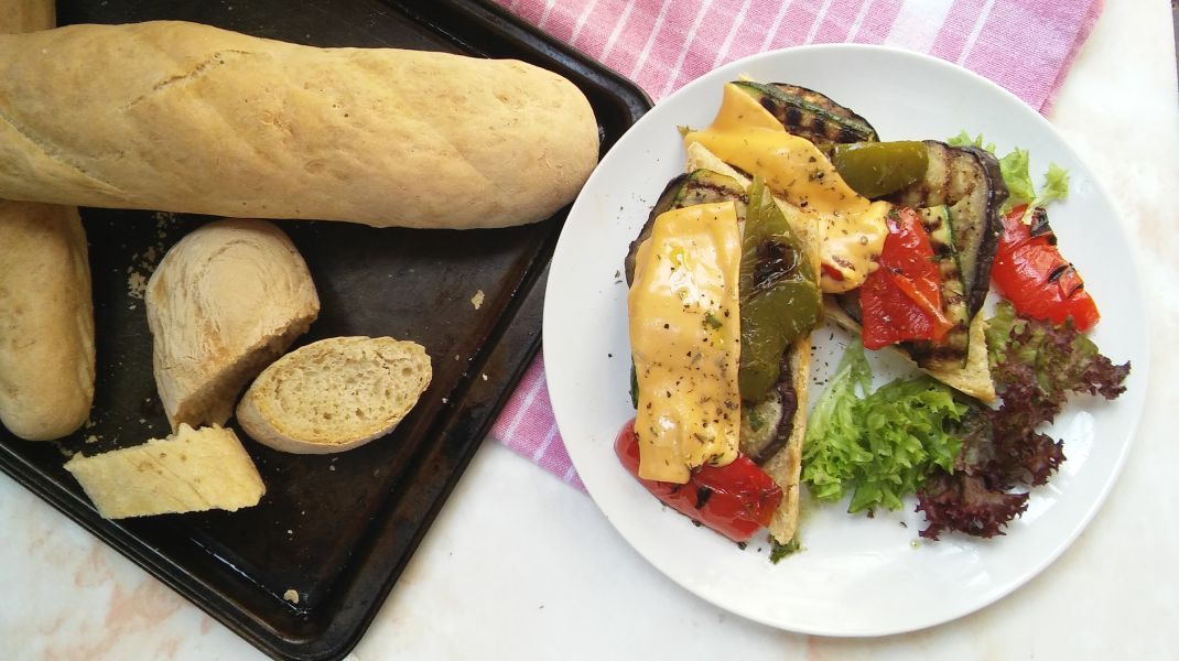 grilled vegetable baguette