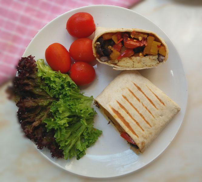 High Protein Breakfast Burrito