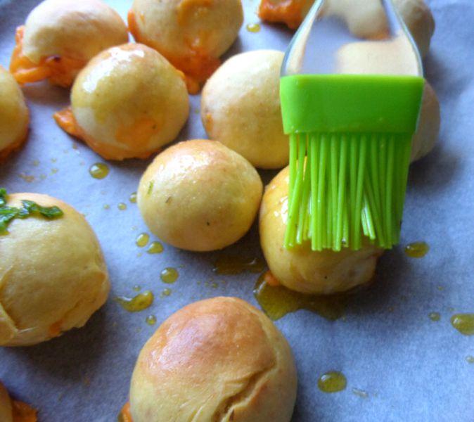 Three Cheese Garlic Bombs with Homemade Dough