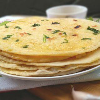 Yeast Free Soft Garlic Butter Naan