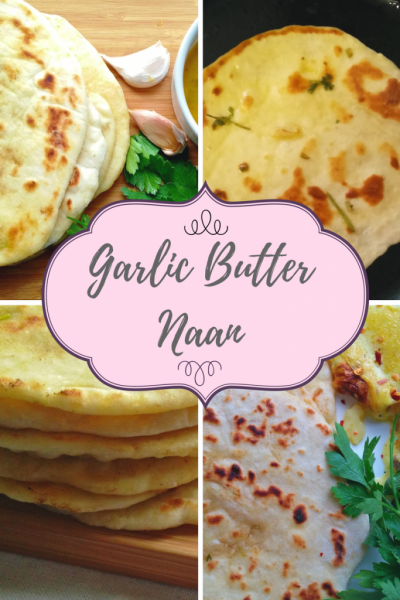 YEAST FREE SOFT GARLIC BUTTER NAAN