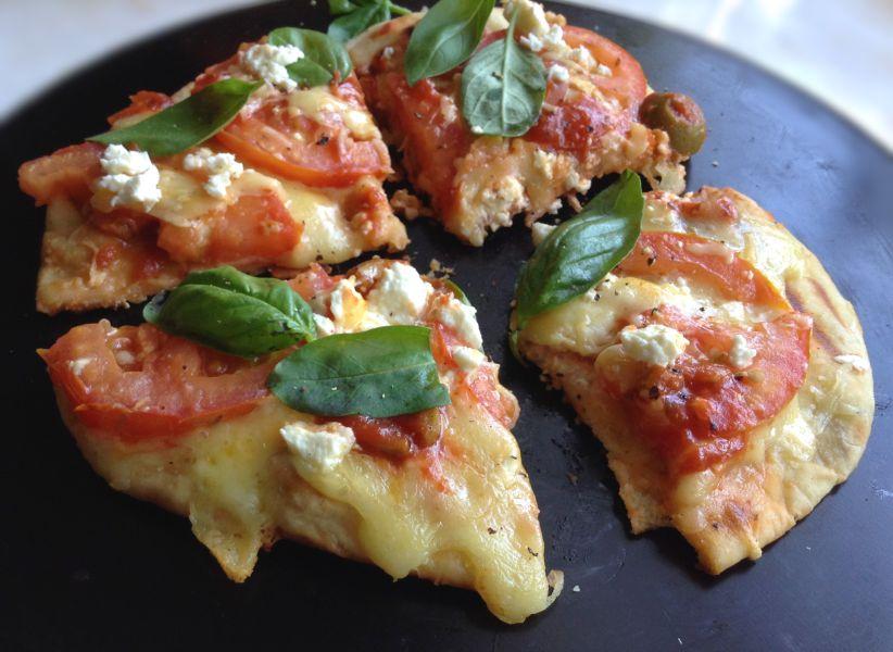 Stove top Flatbread pizza
