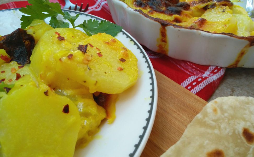 Creamy Golden Baked Potatoes