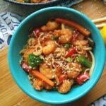 20 Minute Honey Garlic Shrimp Stir Fry