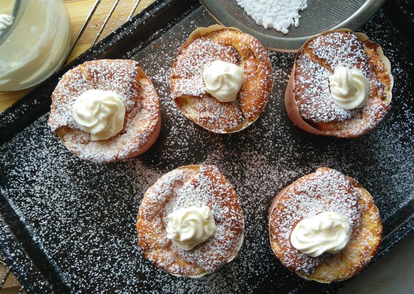 Cream Filled Chiffon Cupcakes