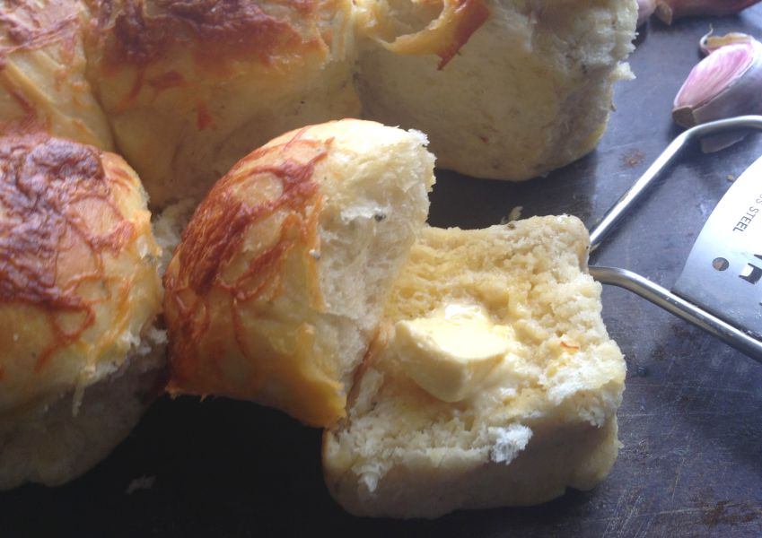 Cheese and Garlic Herb Rolls