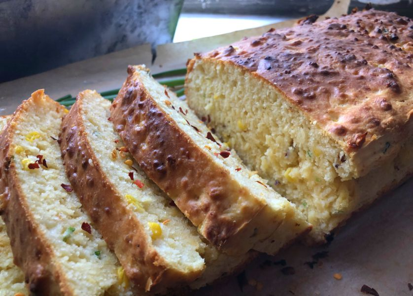 Spicy Sweetcorn and Cheese Loaf