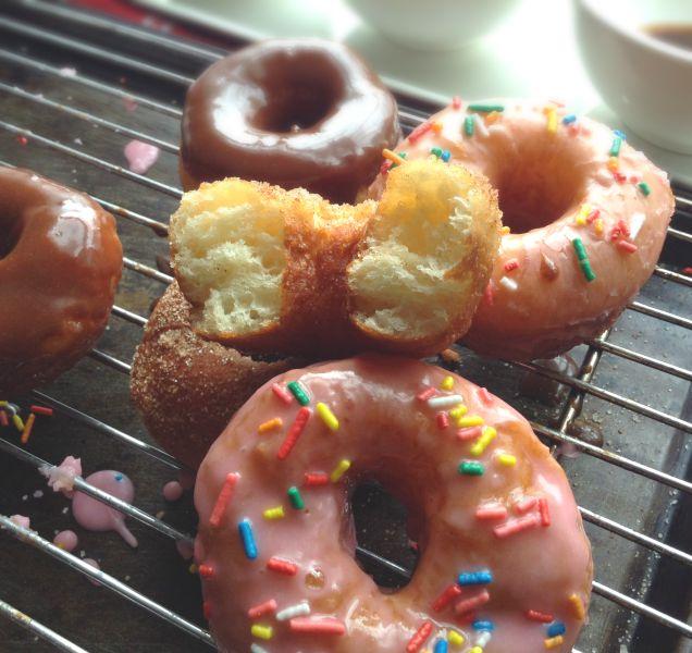 soft homemade doughnuts