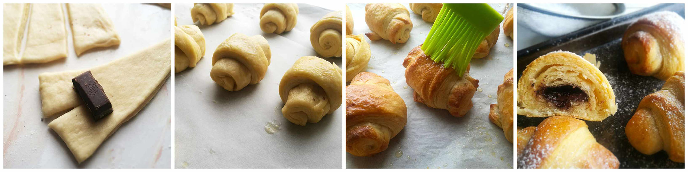 Chocolate filled Croissants