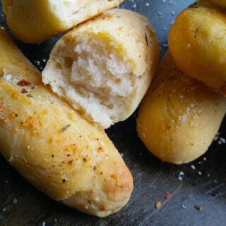 3 ingredient Garlic Breadsticks
