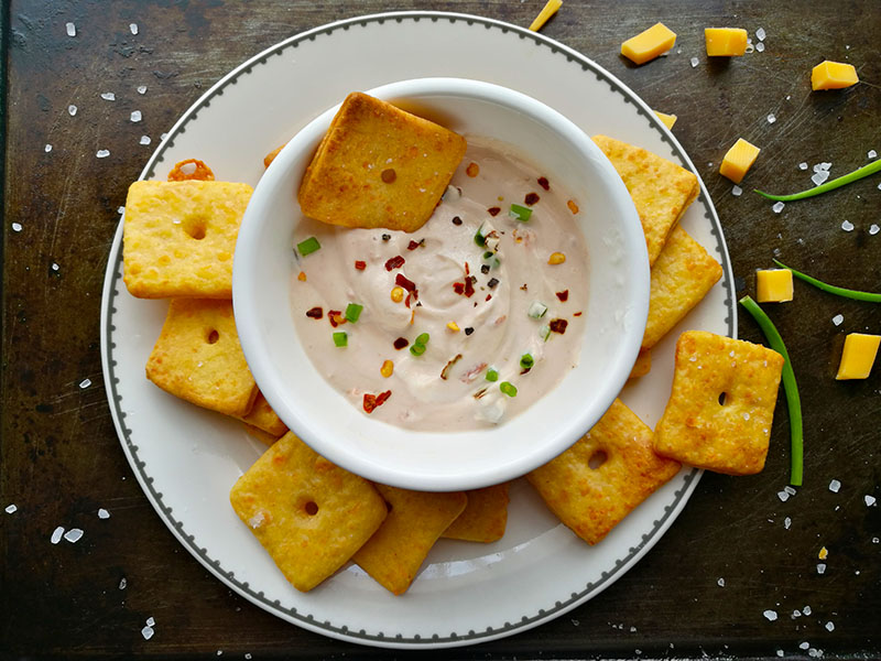 Homemade Spicy Cheese Crackers