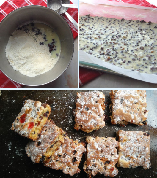 3 ingredient Condensed Milk Fruit Squares