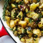 Warm Potato and lentil salad