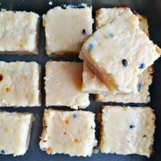 Condensed Milk Passion Fruit Slices