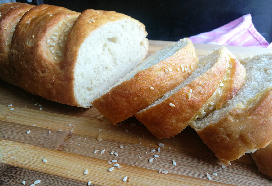 Easy No Knead French Bread