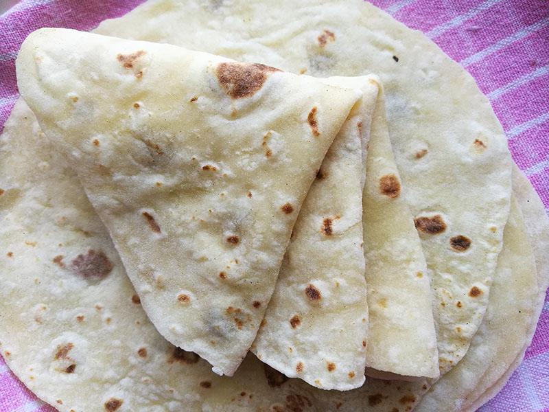 2 ingredient Potato Flatbread