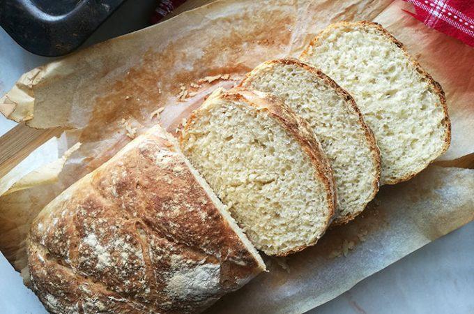 No Knead White Bread