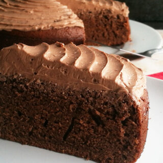 Chocolate Hot Milk Sponge Cake