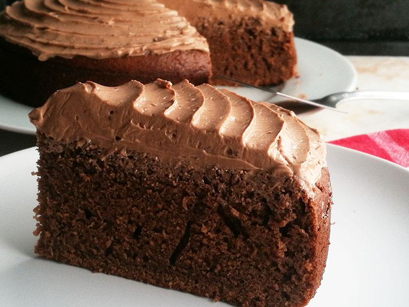 Chocolate Hot Milk Sponge Cake