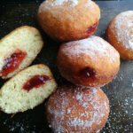 No Knead Jam Filled Donuts