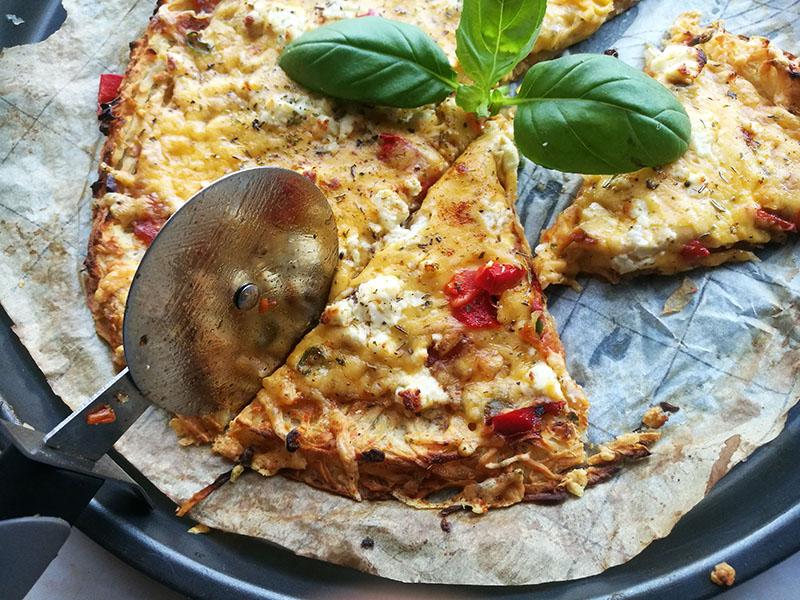 Grated Potato Crust Pizza