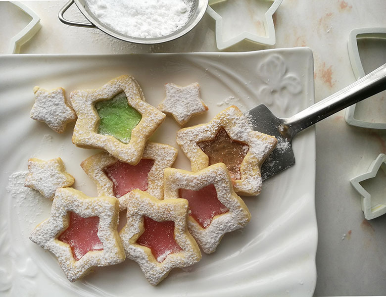 Stained Glass Butter Cookies