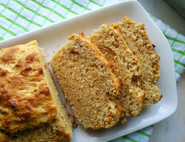 Peanut Butter Bread No Eggs No Butter No Yeast The Gardening Foodie
