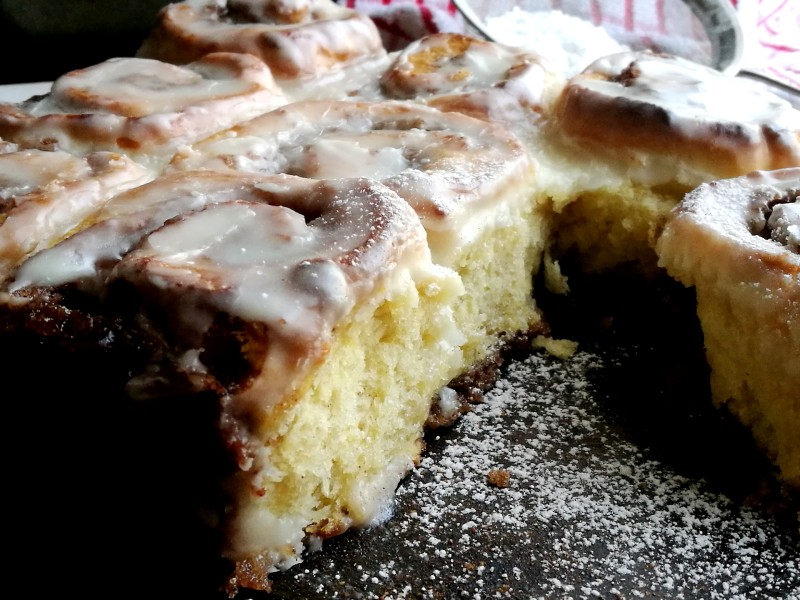 No Yeast Cinnamon Rolls