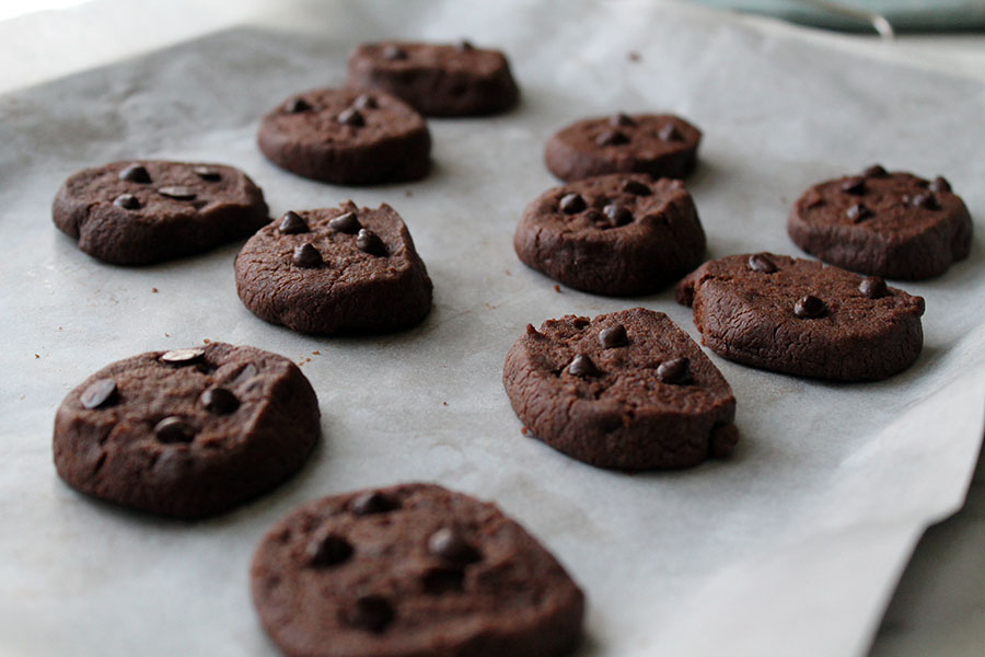 Double Chocolate Slice and Bake Cookies (Just 5 ingredients)