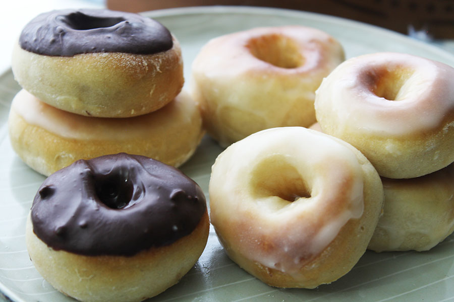If you're a fan of doughnuts but not the deep frying that goes with it, then these delicious Air fryer doughnuts are for you.  They are yeast-based and bakes up super soft and fluffy. Dipped in chocolate, glaze or cinnamon they make a great breakfast or treat.