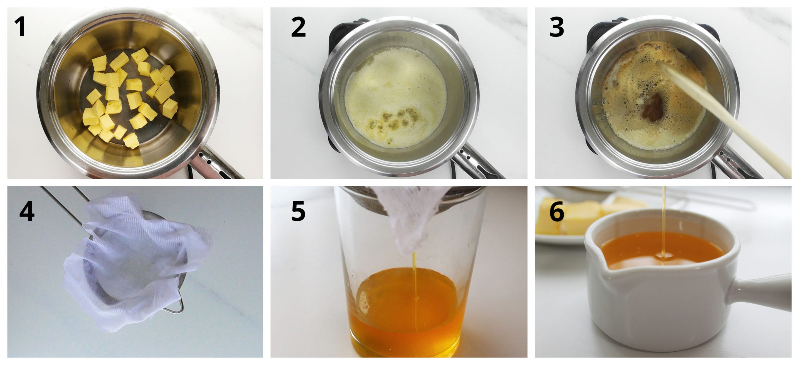 A quick step by step to make clarified butter