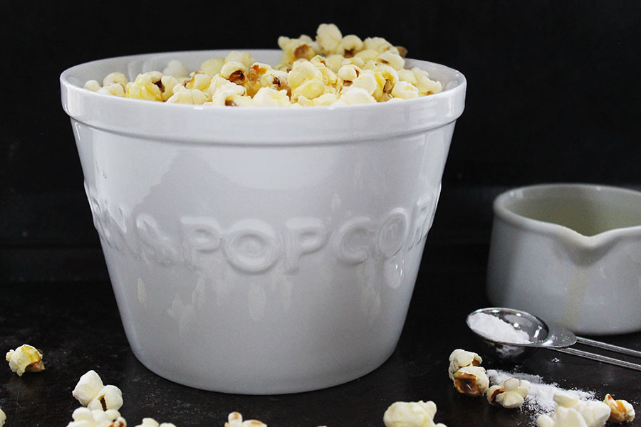 Are you a big fan of crispy popcorn? Then you are going to love my Movie Style Popcorn recipe. Buttery, super crisp and irresistibly delicious. Perfect to enjoy as a quick snack or tuck into a heaping bowl with a movie. Using just 3 ingredients, now you can make this all-time classic movie snack at home.