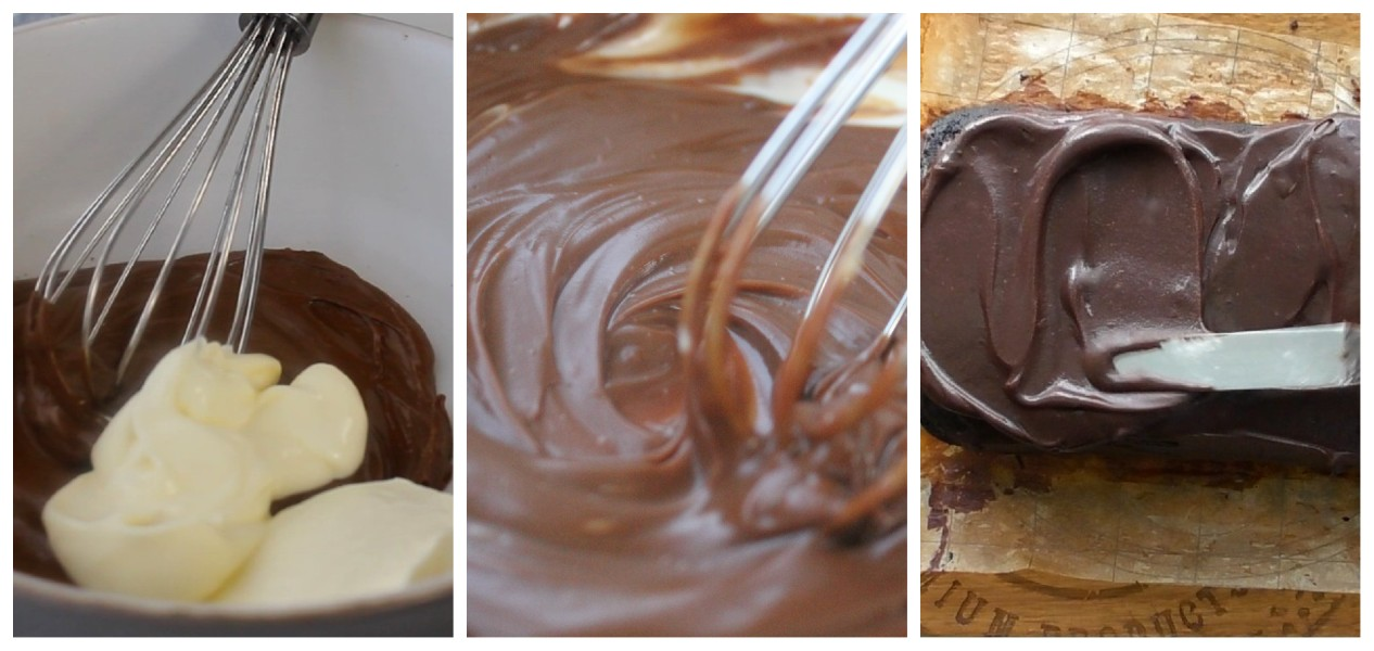 The chocolate for the topping can either be melted in the microwave or on the stovetop: